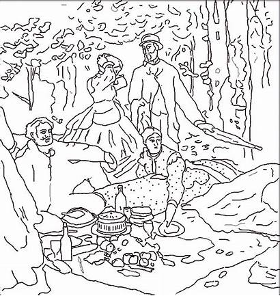 Famous Coloring Pages Paintings Monet Painting Painters