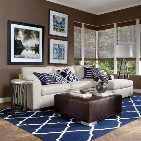 navy blue  brown living room ideas