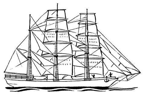 Boat Drawing Lines by Sailboat Line Drawing Clipart Best
