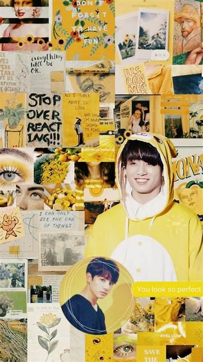 Jungkook Aesthetic Bts Yellow Disney Credits Backgrounds