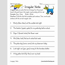 Irregular Verbs Worksheet  Have Fun Teaching