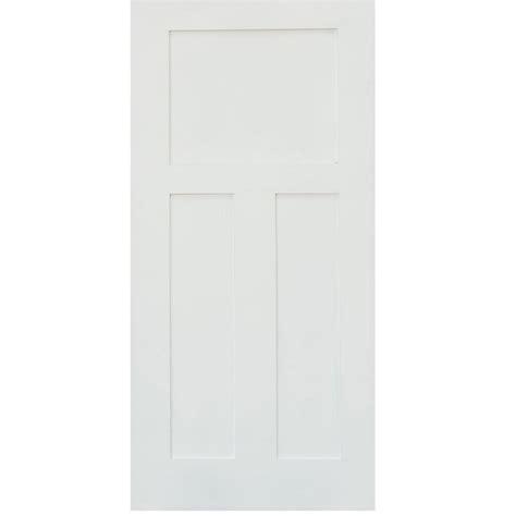 3 panel interior doors home depot stile doors 24 in x 80 in shaker primed 3 panel solid
