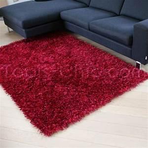 Tapis Shaggy Rouge : tapis shaggy framboise rouge arte espina ~ Teatrodelosmanantiales.com Idées de Décoration