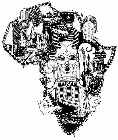Coloring Africa Map Adult Pages Difficult Adults