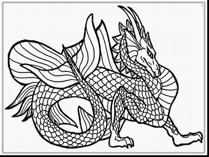 Coloring Pages Skyrim Dragon Realistic Head Printable
