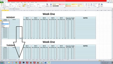 5 Workout Log Excel