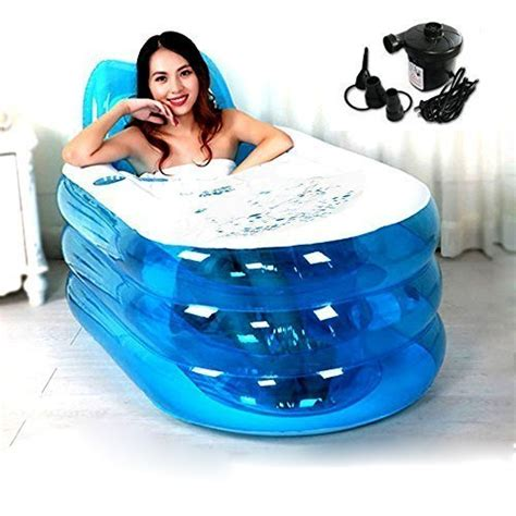opar foldable durable adult spa inflatable bath tub with