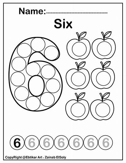 Coloring Dot Pages Marker Preschool Numbers Activity