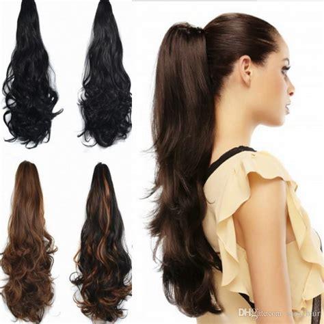 sara ladies girls claw jaw kinky curly ponytails clip