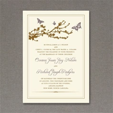 invitation template butterfly branch  print