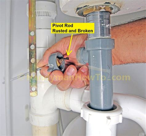 replace  pop  sink drain remove   drain