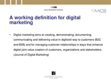 School Of Digital Marketing by 2014 Of Cape Town Seminar Speech Digital