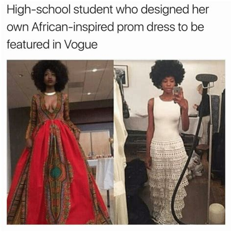 Black Girl Wedding Dress Meme - high school student who designed her own african inspired prom dress to be featured in vogue