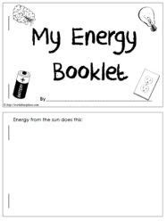 energy worksheet one week unit 2nd grade