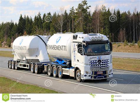 mercedes truck white white mercedes benz arocs tank truck for cement haul
