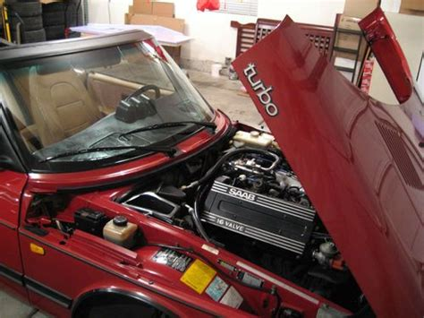 hayes car manuals 1990 saab 900 transmission control buy used 1990 saab 900 turbo convertible 2 door 2 0l cherry red 5 speed manual no reserve in