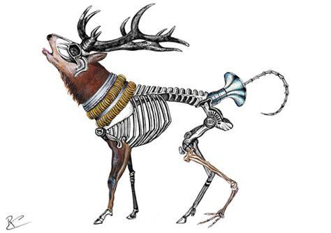 weird deer  battlestar media culture cartoon