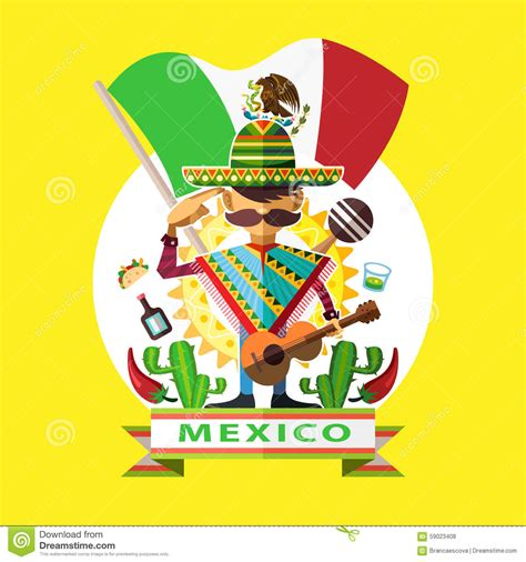 Mexico Independence Day stock vector. Illustration of ...
