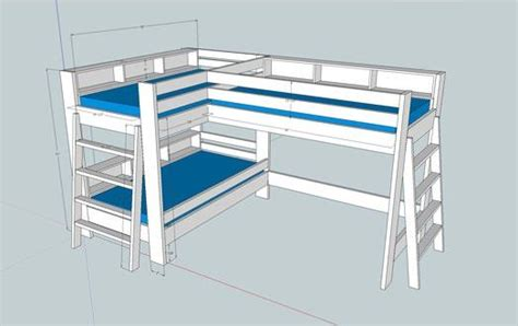 loft bed with 52 awesome bunk bed plans mymydiy inspiring diy projects