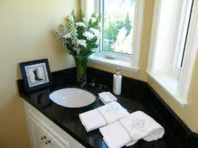 Black Granite Bathroom Countertops