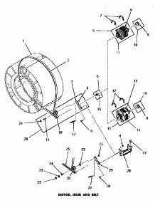 parts for amana de1020 dryer appliancepartsproscom With whirlpool electric dryer tension pulley diagram blow drying