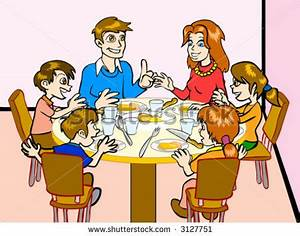 Table clipart family - Pencil and in color table clipart ...