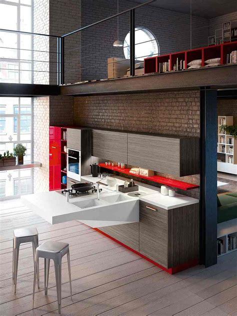 cuisine ouverte sur salon petit espace cuisine ouverte sur salon très design de snaidero