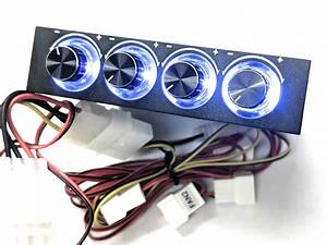 3 5 U0026quot  4 Fan Manual Speed Controller With Led Knobs  U2013 Coolerguys