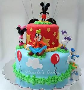 Mickey Mouse Friend Fondant Cake - Fondant Cake Images