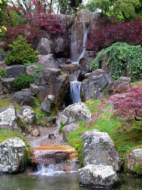 outdoor water ponds and falls japanese gardens waterfalls chu all galleries gt gt my favorites gt japanese garden