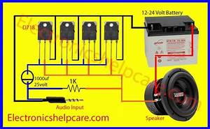 Easy Amplifier Circuit Diagram Using D718 Only