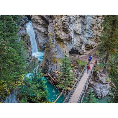 Postcards from Johnston Canyon - Suitcase and Heels