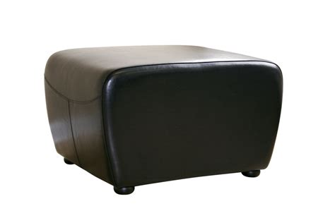 Baxton Studio Chair Ottoman by Baxton Studio Leather Ottoman W Rounded Sides