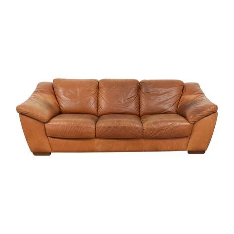 Nicoletti Sofa by 90 Nicoletti Home Nicoletti Brown Leather Three