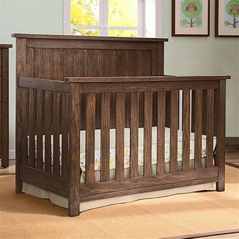 rustic baby cribs serta northbrook 4 in 1 crib in rustic oak