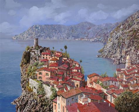 Vernazza Cinque Terre Painting By Guido Borelli