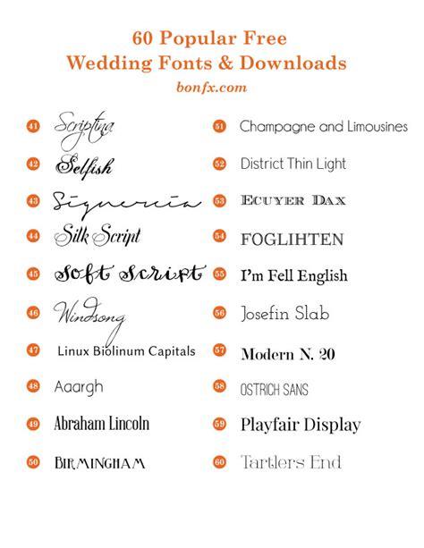 60 Popular Free Wedding Fonts