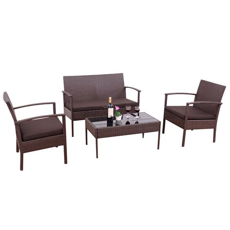 Small Wicker Patio Sets by Best Patio Furniture Sets Clearance Lawn Small Coaster