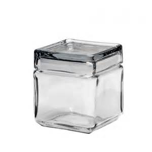 square kitchen canisters anchor hocking square stackable jar w glass lid 1 qt