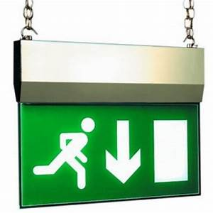 MP 8W Non-Maintained Brass Hanging Exit Sign IP20