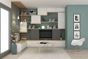 pour le meuble tv penser aux amenagements a integrer dans With meubles de rangement salon 4 mobilier de salon meuble de sjour et de salle manger nice