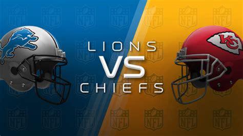 detroit lions  kansas city chiefs preview nfl
