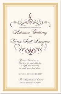 Wedding Program Border Designs