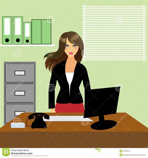 secrétaire ou réceptionniste de bureau photographie stock