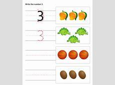 Pre K worksheets numbers Loving Printable