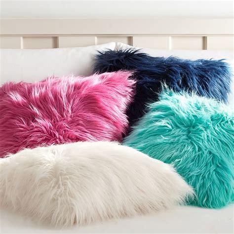 faux fur pillow fur rific faux fur pillow covers pbteen