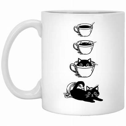 Coffee Cat Funny Mug Cup Gift