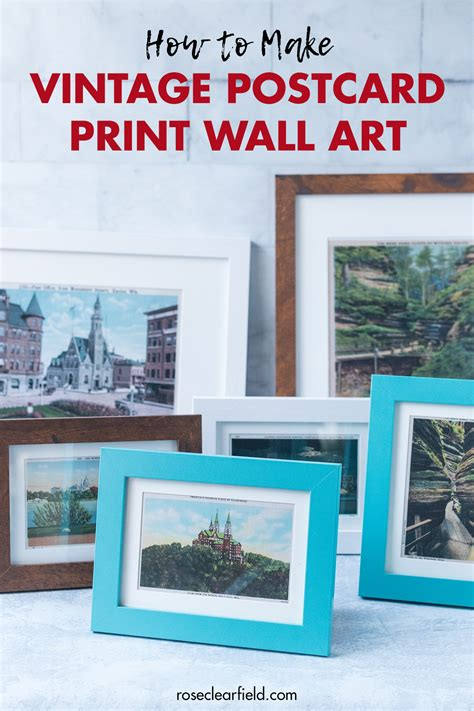 See more ideas about postcard display, disney trips, postcard. How to Make Vintage Postcard Print Wall Art • Rose Clearfield