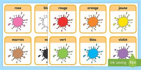 flashcards les couleurs couleurs colours cycle