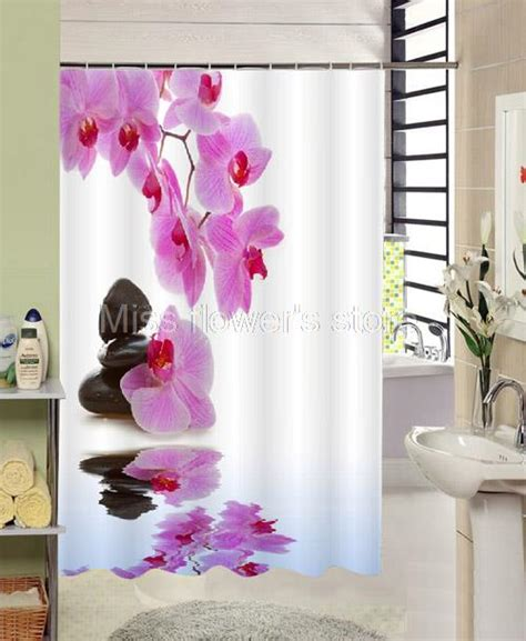 Purple Flower Shower Curtain by Reflection Purple Flower Blackstone Shower Curtain